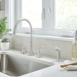 American StandardDelancey Widespread Kitchen Faucet  American Standard - Polished Chrome