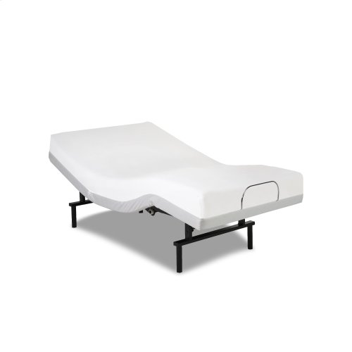 Vibrance Adjustable Bed Base with Head and Foot Articulation, White Finish, Queen