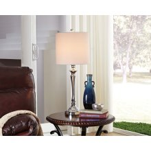 Metal Table Lamp - Taji Chrome Finish
