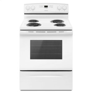 Amana30-inch Electric Range with Bake Assist Temps White