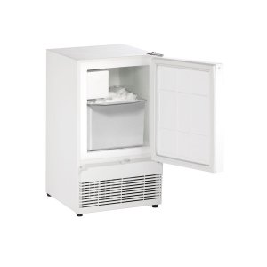 "U-LineAda Series 15"" Crescent Ice Maker With White Solid Finish and Field Reversible Door Swing (115 Volts / 60 Hz)"