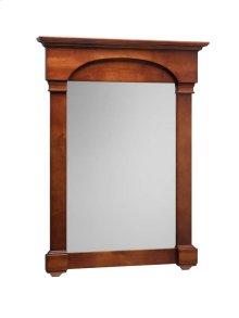 "Verona Tradional 30"" x 39"" Solid Wood Framed Bathroom Mirror in Colonial Cherry"