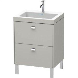 Furniture Washbasin C-bonded With Vanity Floorstanding, Concrete Gray Matt Decor