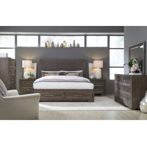 LEGACY CLASSIC FURNITUREFacets Panel Bed w/ Storage Footboard, Queen 5/0