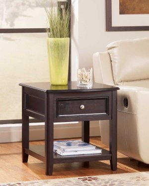 T7713 In By Ashley Furniture In Tulsa Ok Rectangular End Table