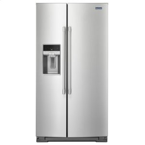 Maytag36- Inch Wide Counter Depth Side-by-Side Refrigerator- 21 Cu. Ft.