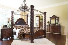 North Shore - Dark Brown 7 Piece Bedroom Set