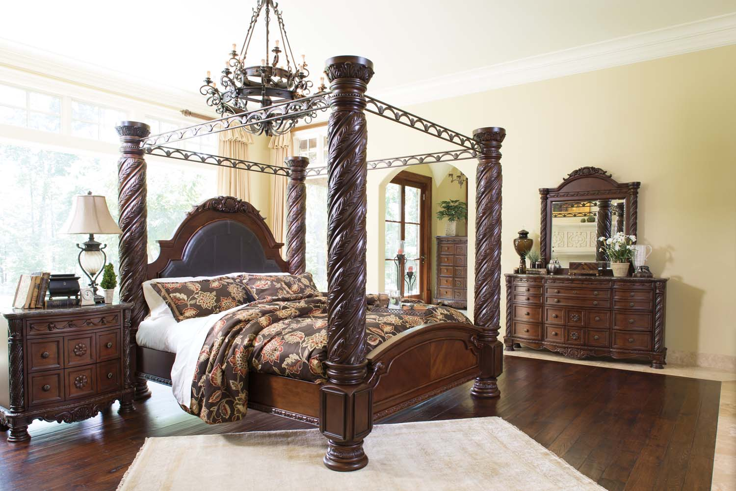 North Shore   Dark Brown 7 Piece Bedroom Set