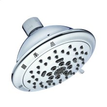 "Chrome Florin® 4 1/2"" 5-Function Showerhead, 2.0gpm"