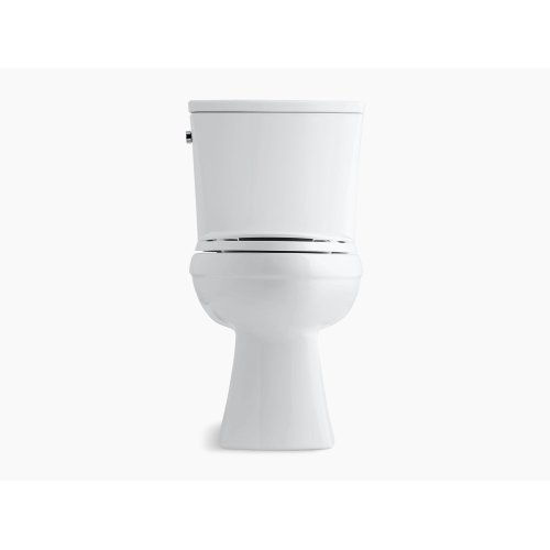 White Comfort Height Two-piece Elongated 1.6 Gpf Toilet With Aquapiston Flushing Technology and Left-hand Trip Lever, Seat Not Included