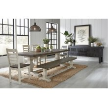 """Caleb Dining Table 94"""" Two Tone"""