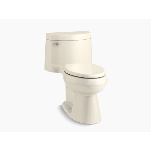 Almond Comfort Height One-piece Elongated 1.28 Gpf Toilet With Aquapiston Flush Technology, Left-hand Trip Lever and Concealed Trapway