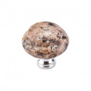 Giallo Veneziano Granite 1 3/8 Inch with Chrome base - Chrome