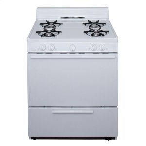 Premier30 in. Freestanding Battery-Generated Spark Ignition Gas Range in White