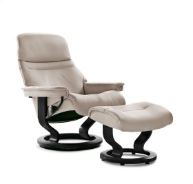 Stressless Sunrise Medium Classic Base Chair and Ottoman