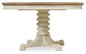 "Dining Room Sunset Point Pedestal Dining Table with One 18"" Leaf"