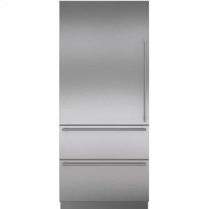SubzeroStainless Steel Door Panel with Tubular Handle - LH