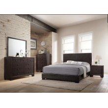 IRELAND BROWN QUEEN BED