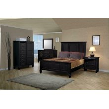 Sandy Beach Black California King Four-piece Bedroom Set