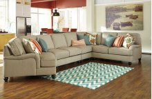 Kerridon 5-Pc Sectional LAF Cuddler, Armless Loveseat, Wedge, Armless Chair and RAF Loveseat