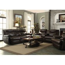 Macpherson Power Motion Brown Two-piece Living Room Set