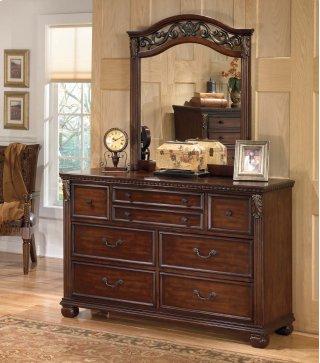 Leahlyn - Warm Brown Dresser & Mirror