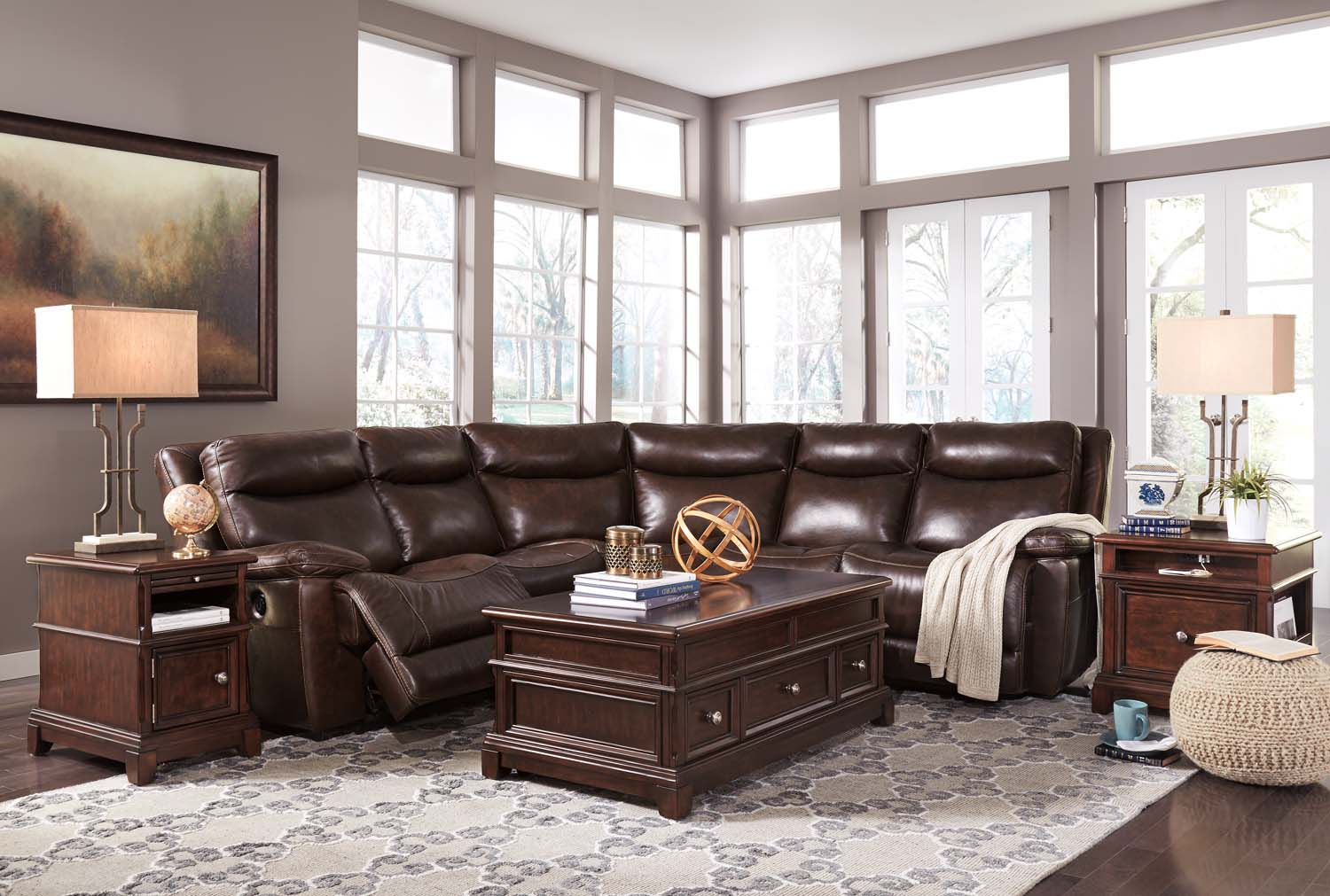 Zaiden   Antique 7 Piece Sectional
