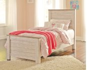 Willowton - White Wash 3 Piece Bed Set (Twin)