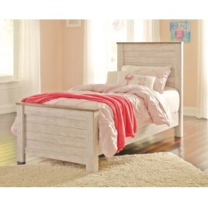 Ashley Furniture Willowton - Whitewash 3 Piece Bed Set (Twin)