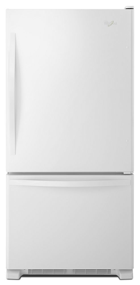 Whirlpool33-Inches Wide Bottom-Freezer Refrigerator With Spillguard Glass Shelves - 22 Cu. Ft