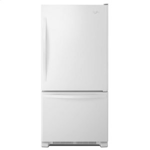 33-inches wide Bottom-Freezer Refrigerator with SpillGuard Glass Shelves - 22 cu. ft - WHITE