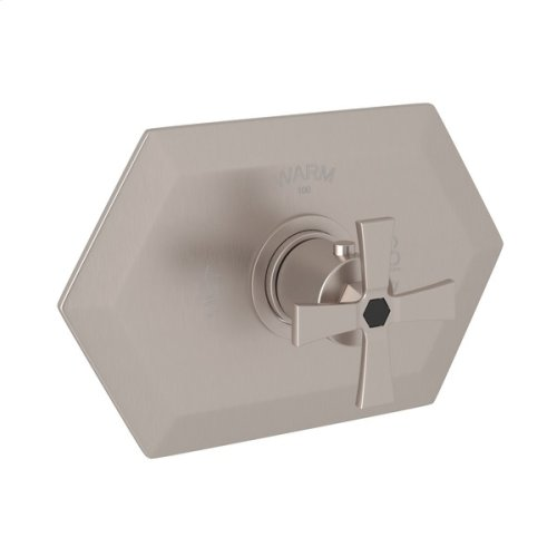 Satin Nickel Bellia Thermostatic Trim Without Volume Control