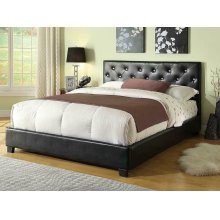 Regina Transitional Black Queen Bed