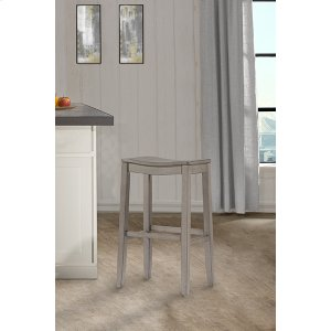 Hillsdale FurnitureFiddler Backless Non-swivel Bar Stool - Aged Gray
