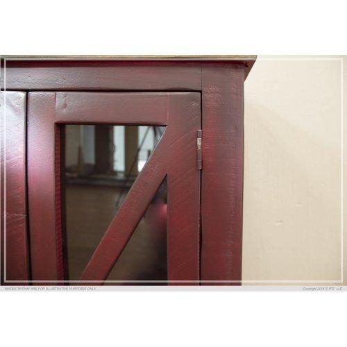 4 Door, Console Red Finish