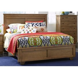 4/6-5/0 Full/Queen Panel Bed - Dune Finish