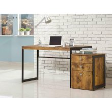 Estrella Industrial Antique Nutmeg Writing Desk