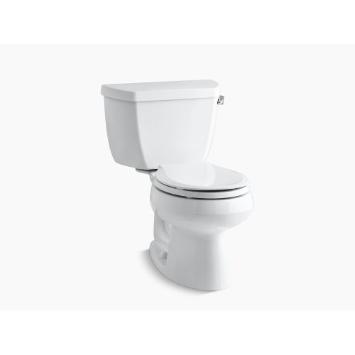 Biscuit Two-piece Round-front 1.28 Gpf Toilet With Class Five Flush Technology and Right-hand Trip Lever, Seat Not Included