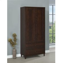 Transitional Rustic Tobacco Accent Cabinet
