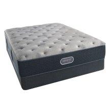 BeautyRest - Silver - Sedate Gray Luxury Firm - Queen 2 pc. Mattress Set