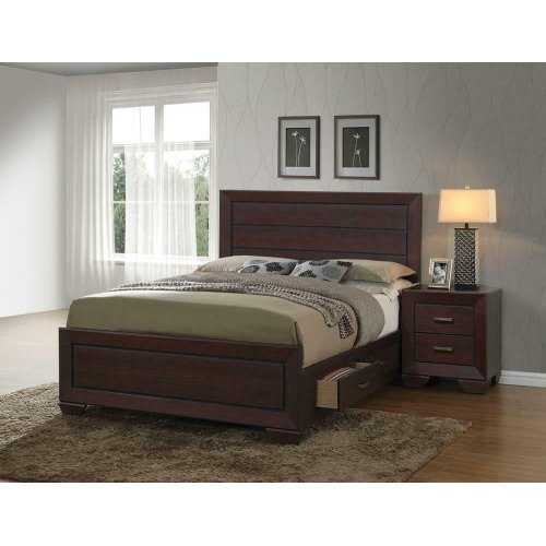 Fenbrook Transitional Dark Cocoa Queen Bed