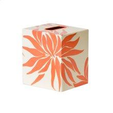 Kleenex Box Orange and Cream FLORAL.