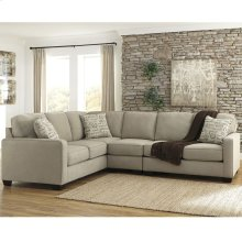 Signature Design by Ashley Alenya 3-Piece Left Side Facing Sofa Sectional in Quartz Microfiber