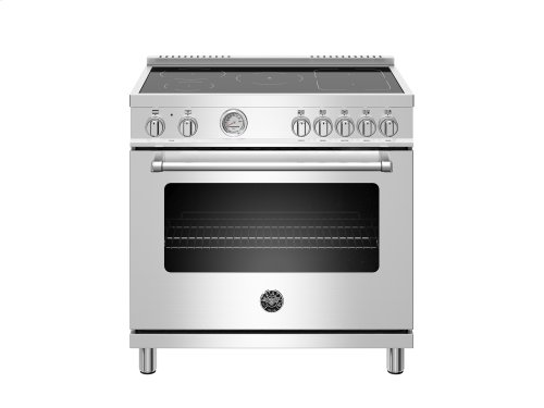 36 inch Induction Range, 5 Heating Zones, Electric Oven Stainless