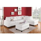 WHITE STORAGE OTTOMAN Product Image