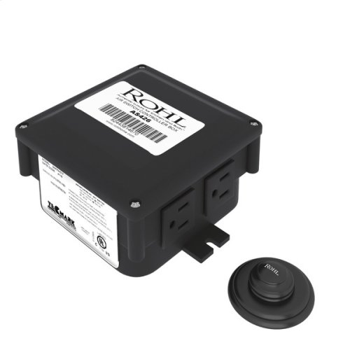 Matte Black ROHL Decorative Luxury Air Activated Switch Button With Control Box For Waste Disposal