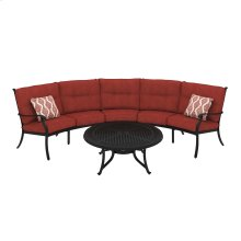 Burnella - Brown 4 Piece Patio Set