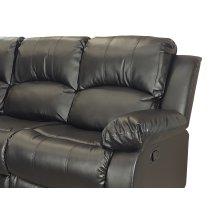 Kaden Black Bonded Leather Recliner Chair