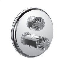 """7095tt-tm - 1/2"""" Thermostatic Trim With Volume Control in Polished Chrome"""