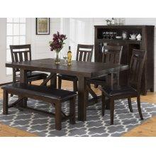 Kona Grove Upholstered Slat Back Dining Chair